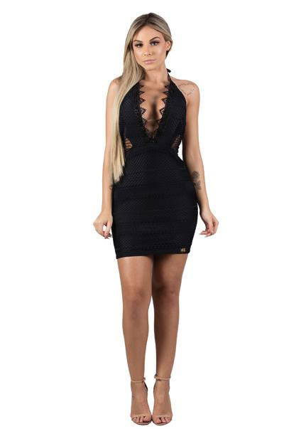 54801e2bd Encontre Vestido curto frente unica renda decote | Multiplace